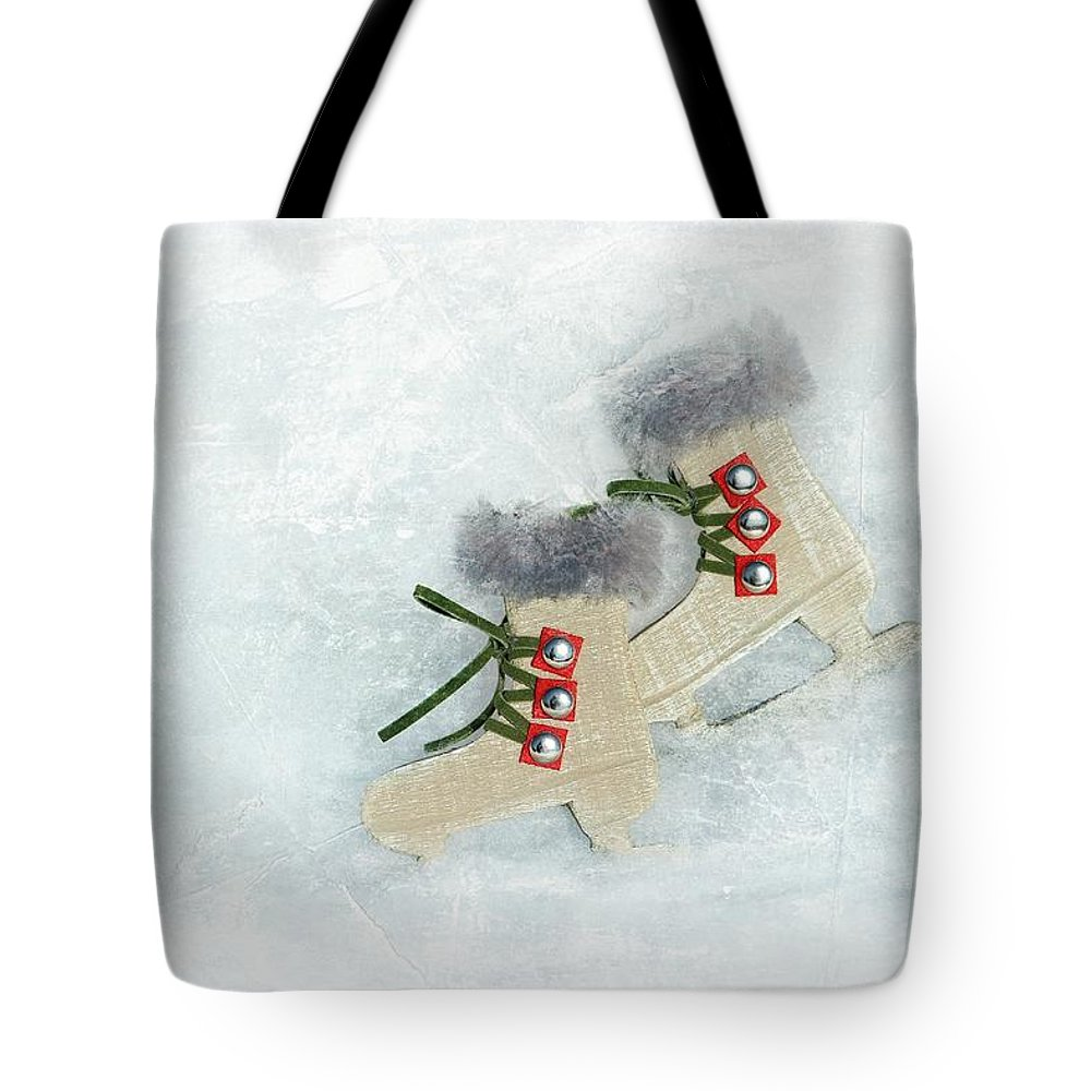 Sports Tote Bag featuring the photograph Ice Skates by Heike Hultsch