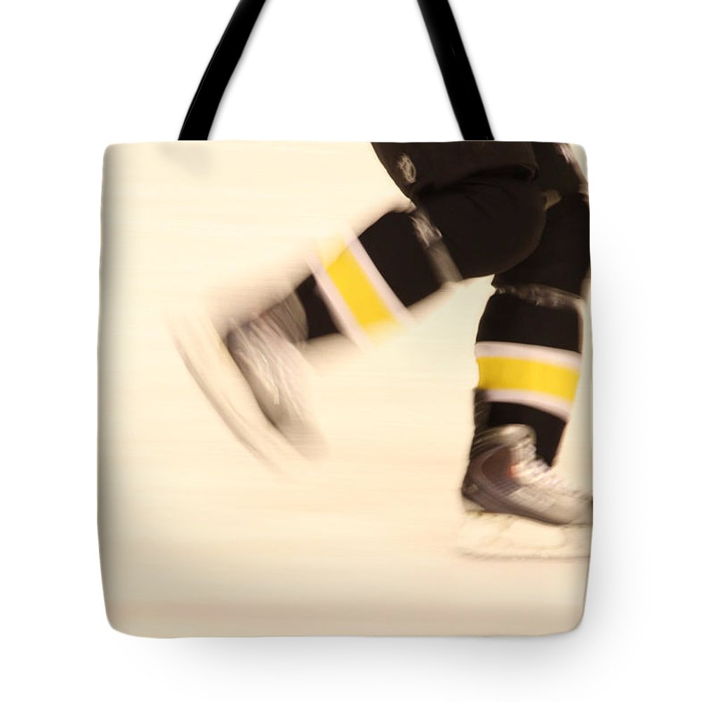 Hockey Tote Bag featuring the photograph Ice Speed by Karol Livote