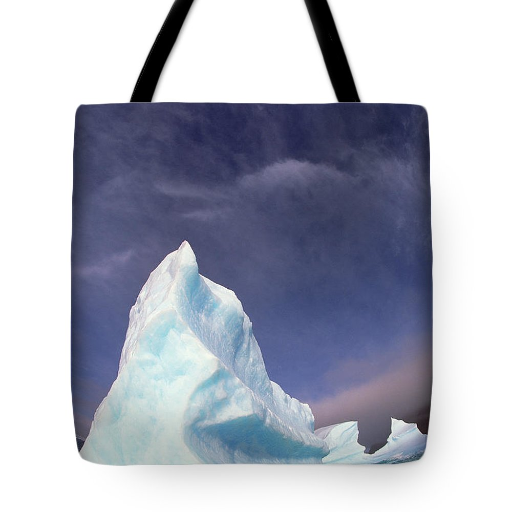 Hhh Tote Bag featuring the photograph Iceberg Adrift Near South Orkney by Colin Monteath