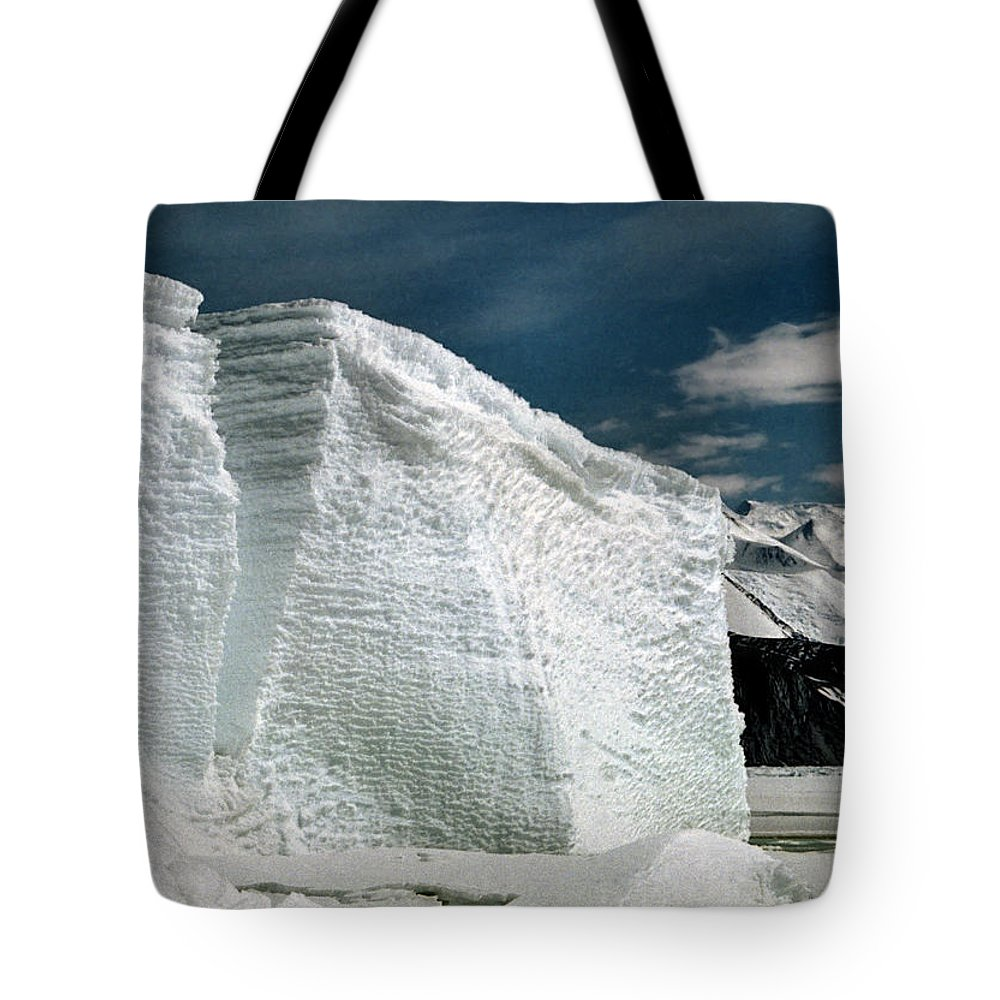 Ice Bergs Antarctica Tote Bag featuring the photograph Iceberg At Cape Hallett Antarctica by Carole-Anne Fooks
