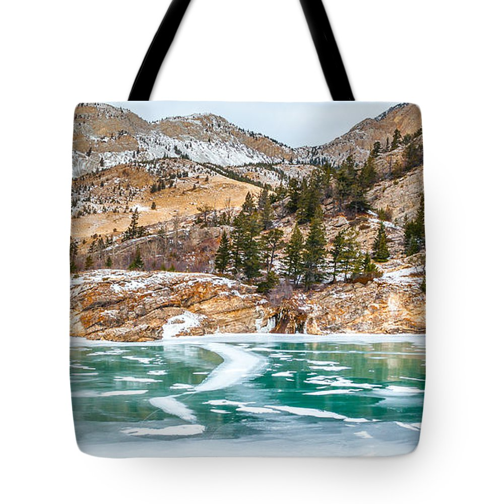 Ice Tote Bag featuring the photograph Iced Over by Fran Riley