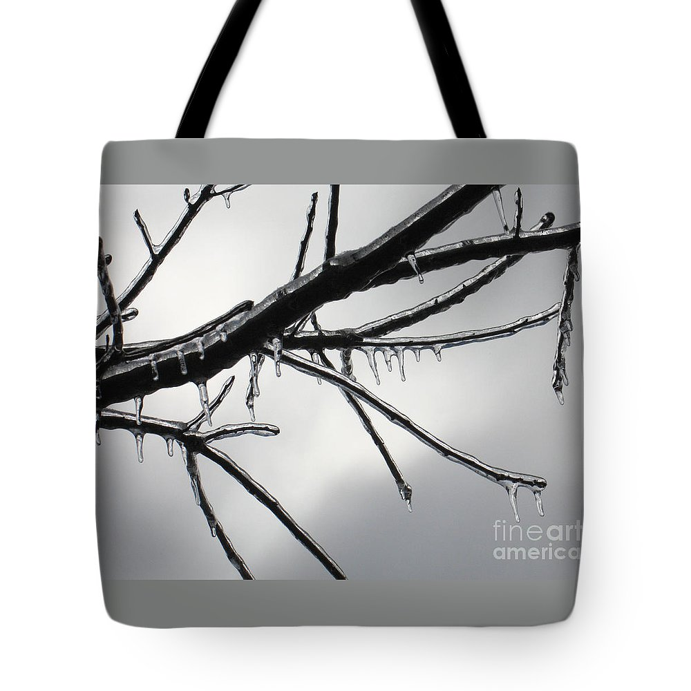Winter Tote Bag featuring the photograph Iced Tree by Ann Horn