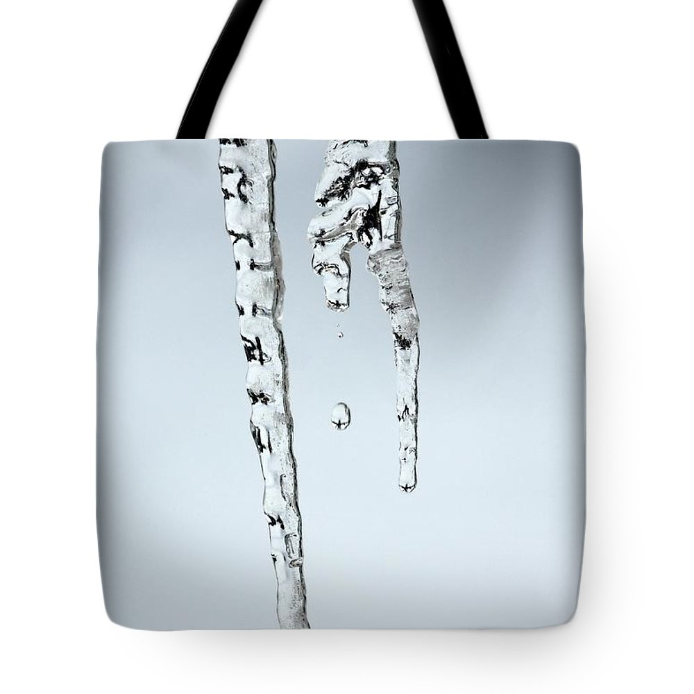 Icicle Tote Bag featuring the photograph Icicle by Sharon Johnston