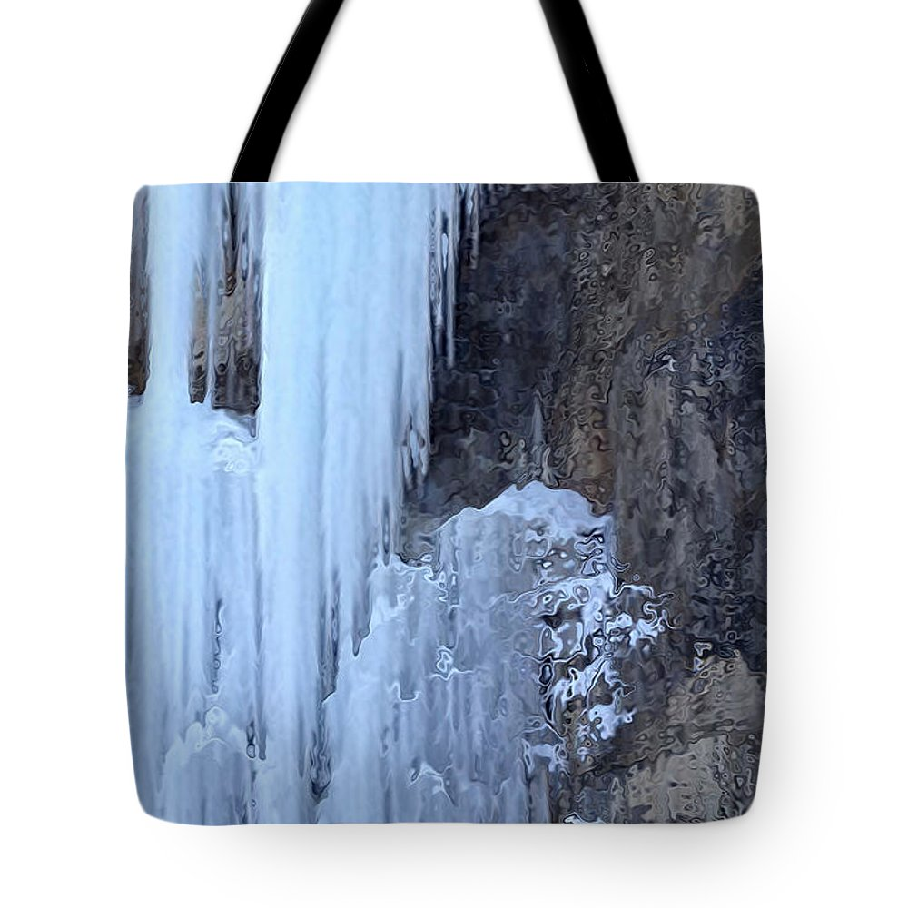 Icicle Tote Bag featuring the photograph Icicles by Kume Bryant