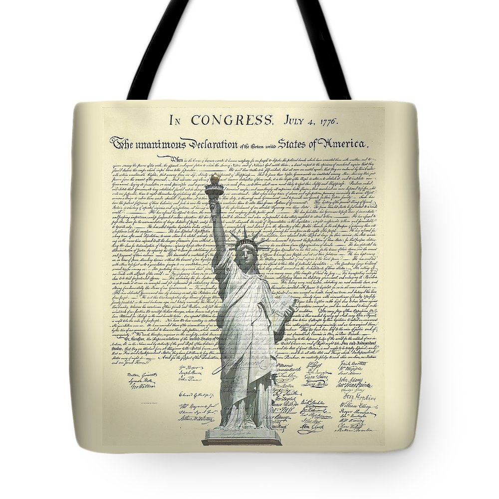 Statue+of+liberty Tote Bag featuring the photograph Icon Of Freedom by Charles Beeler