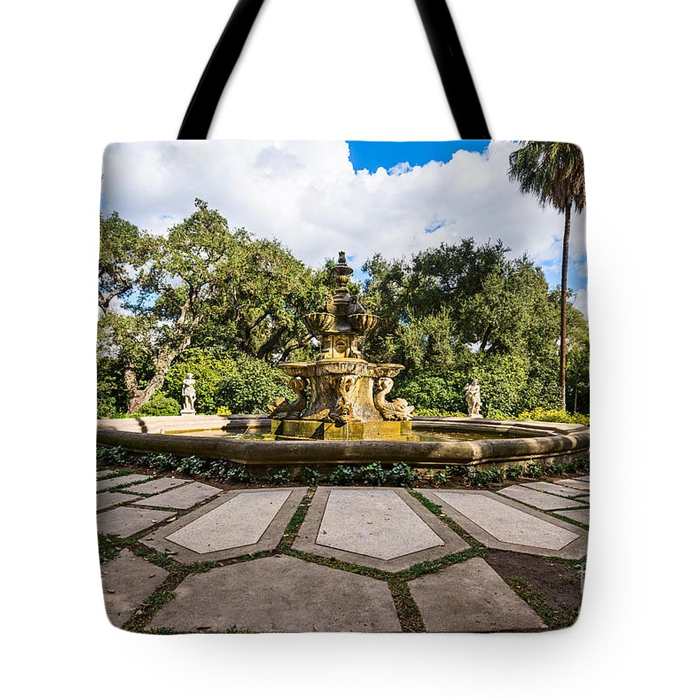 Rge Fountain Tote Bag featuring the photograph Iconic Fountain by Jamie Pham