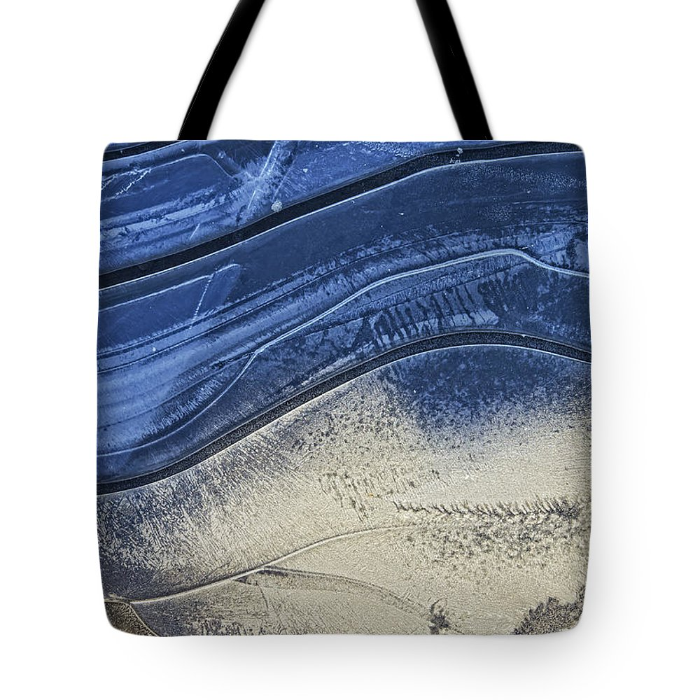 Ice Tote Bag featuring the photograph Icy Blue by David Stone