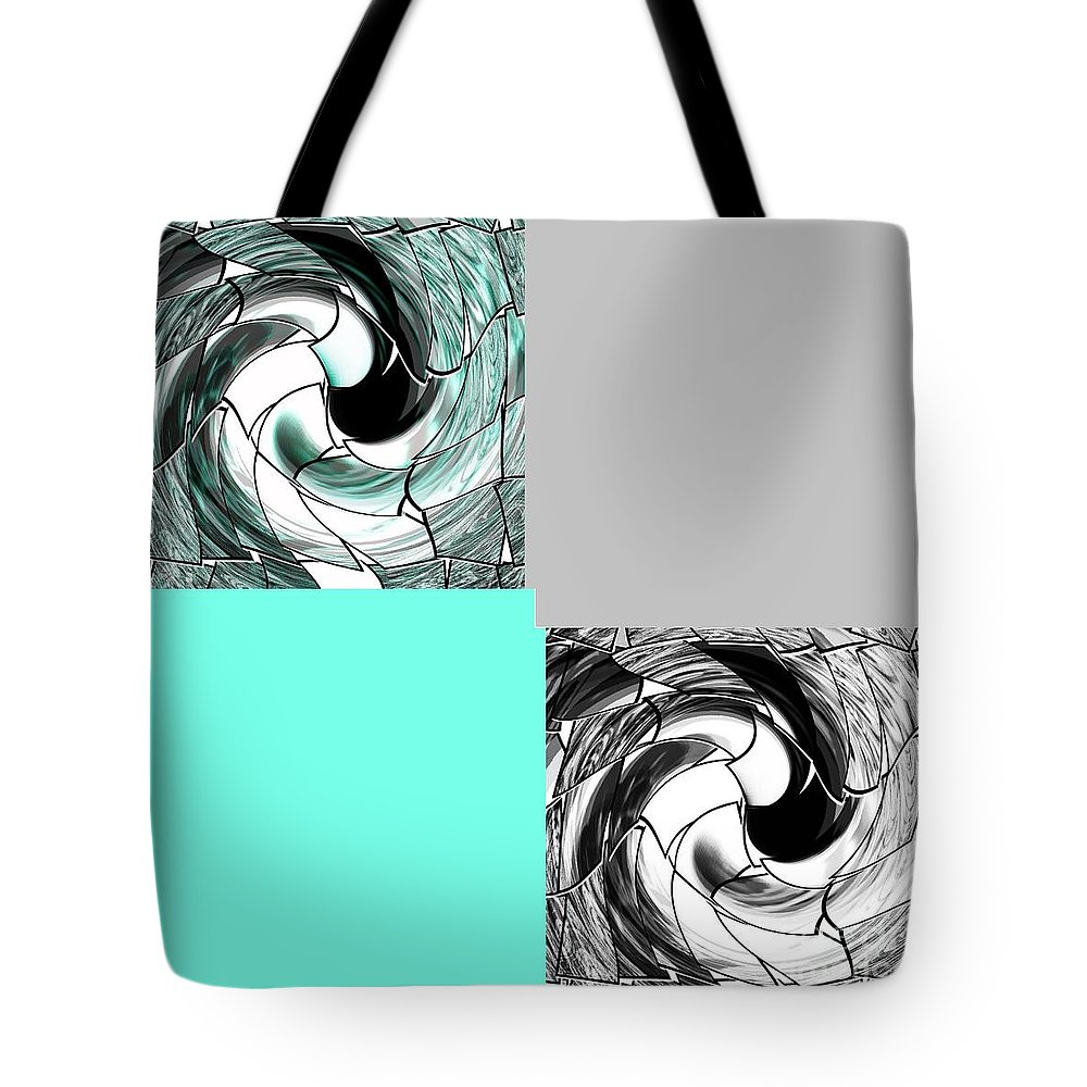 Graphic Tote Bag featuring the mixed media Icy Blue by Ann Calvo