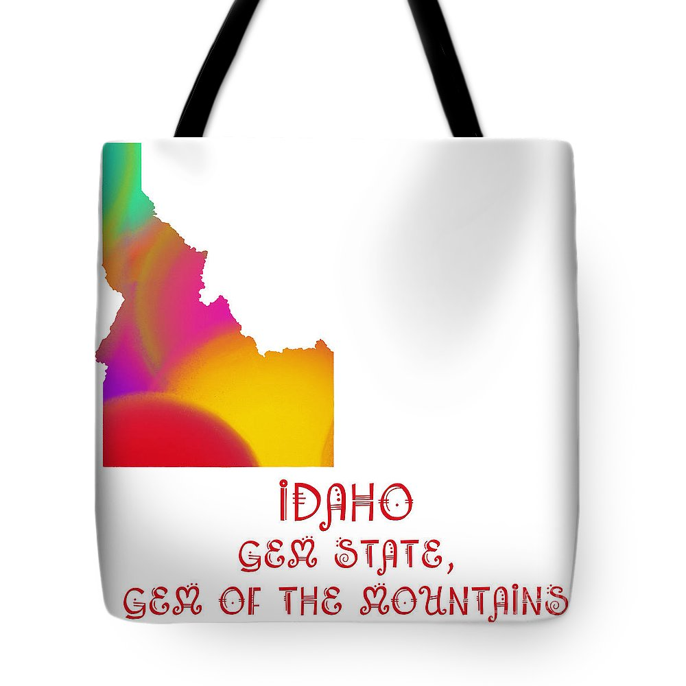 Andee Design Tote Bag featuring the digital art Idaho State Map Collection 2 by Andee Design