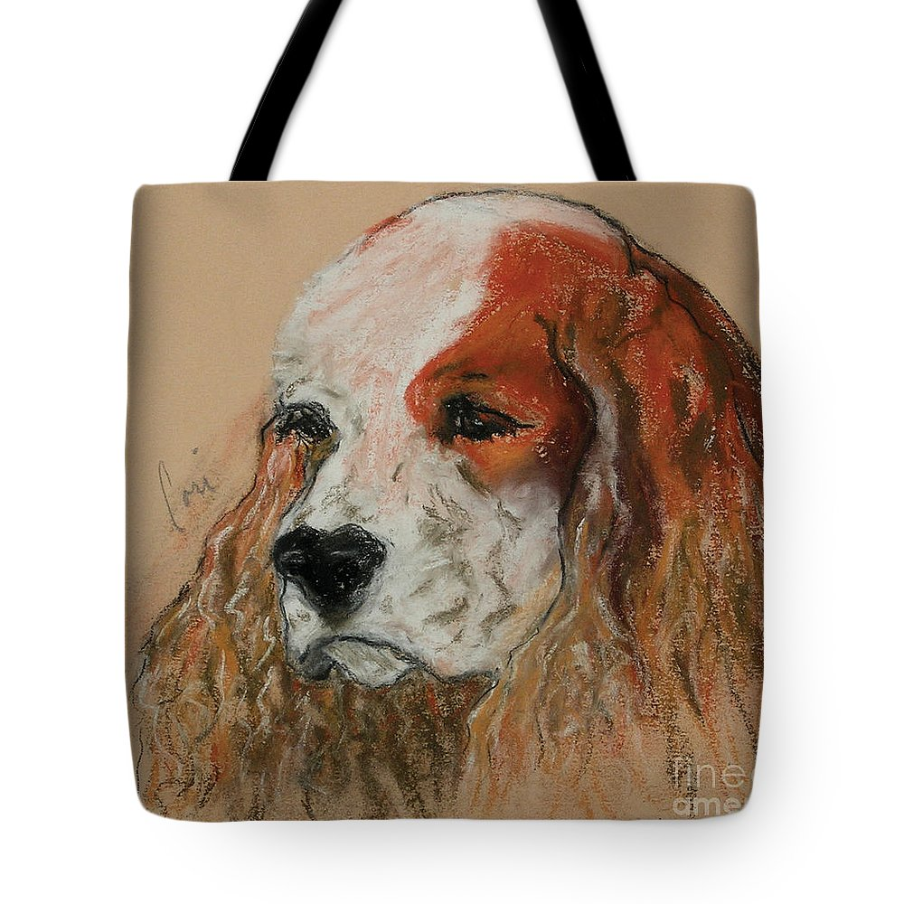 Dog Tote Bag featuring the pastel Idle Thoughts by Cori Solomon