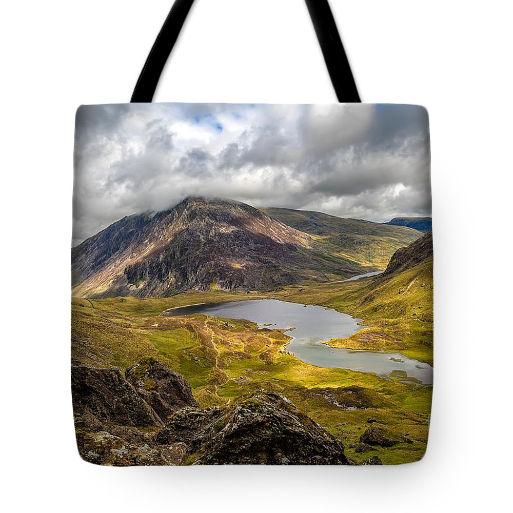 Cwm Idwal Tote Bag featuring the photograph Idwal Lake Snowdonia by Adrian Evans