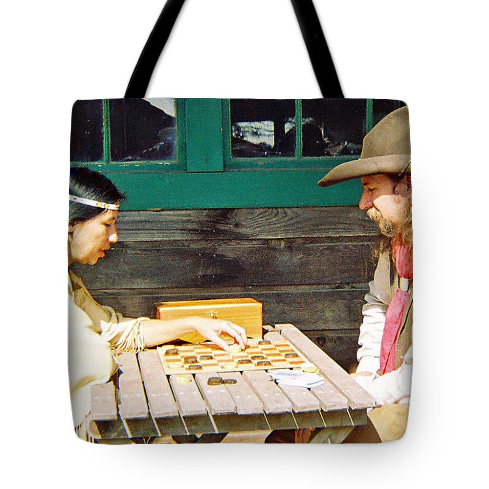 Indian Tote Bag featuring the photograph If I Win I Get Firewater by Cindy New
