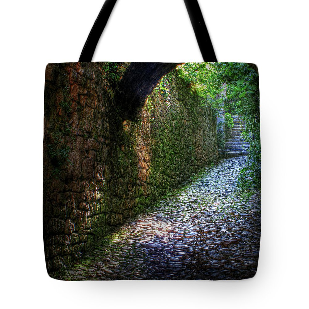 Cobblestone Tote Bag featuring the photograph If Stones Could Talk by Douglas J Fisher