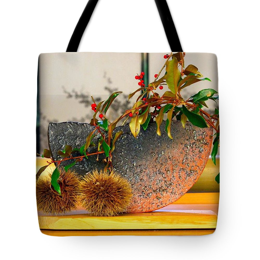 Kyoto Tote Bag featuring the photograph Ikebana  by Karen Jensen