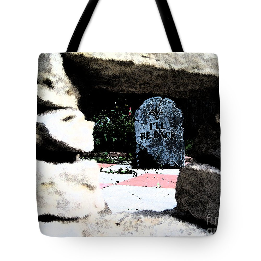 Irst Star Art Tote Bag featuring the photograph I'll Be Back By Jrr by First Star Art
