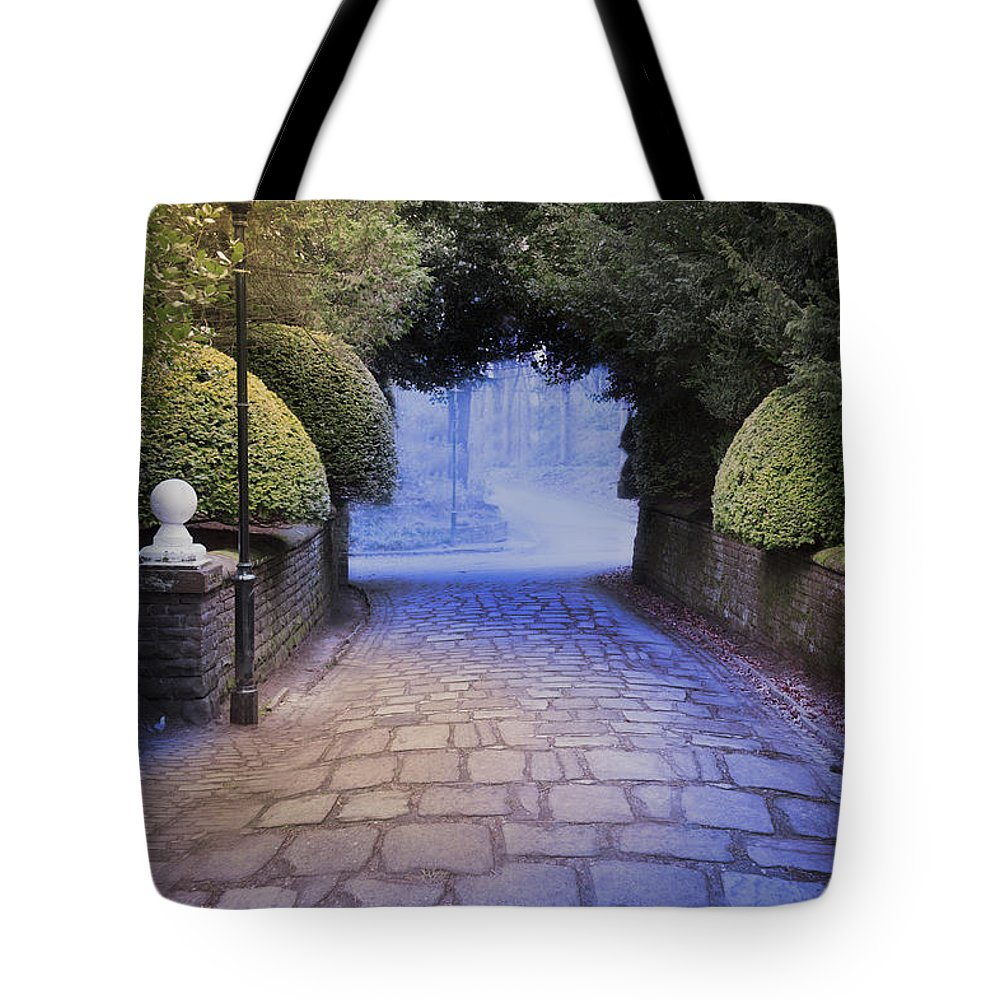 Street Tote Bag featuring the photograph Illuminated Victorian Street Light by Lee Avison