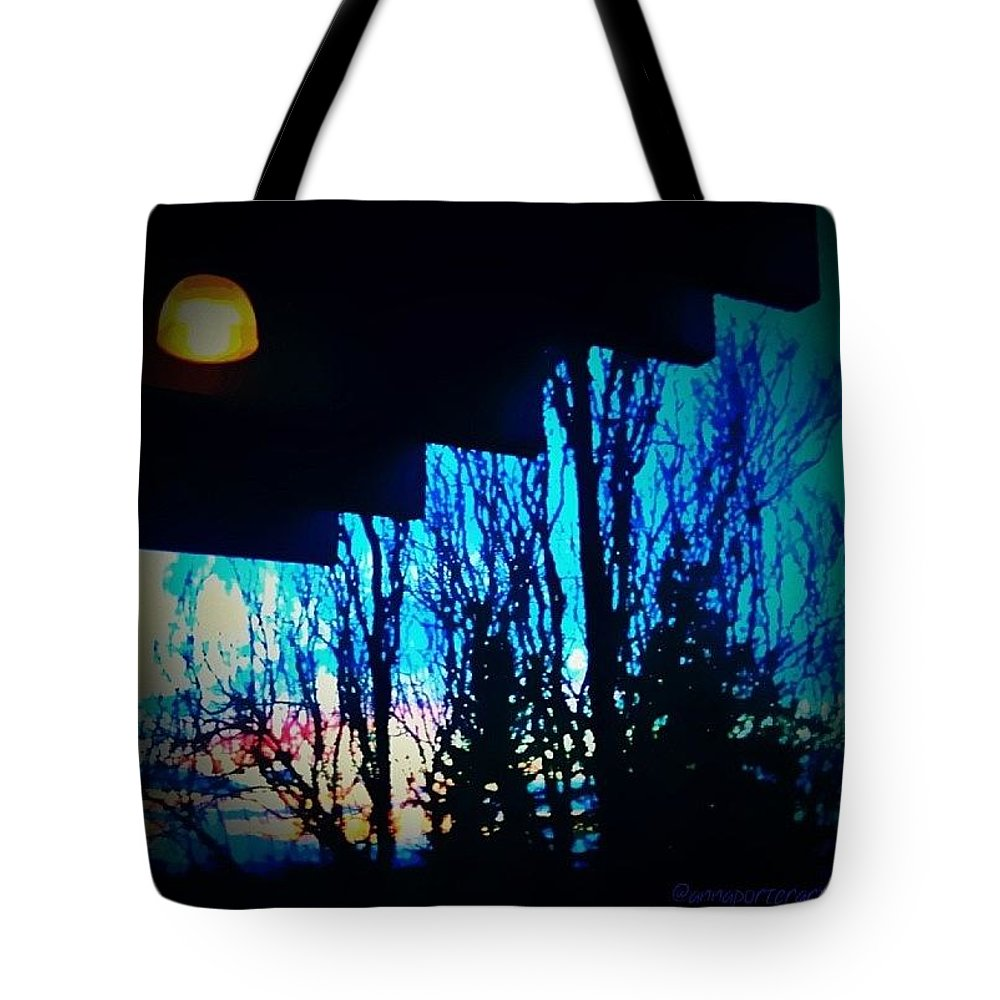 Photowall Tote Bag featuring the photograph Illumination - Sunset At Portland by Anna Porter
