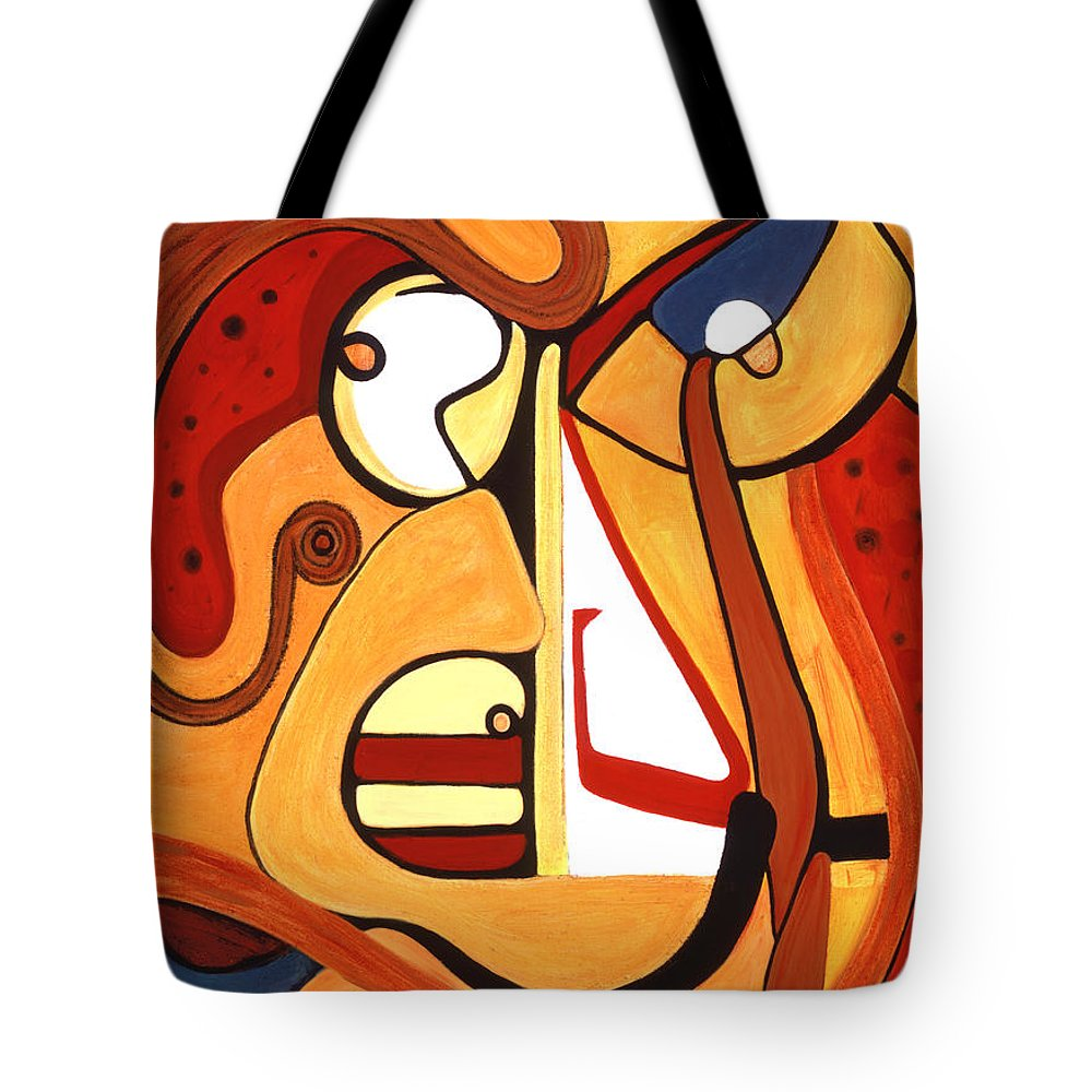 Abstract Art Tote Bag featuring the painting Illuminatus 2 by Stephen Lucas