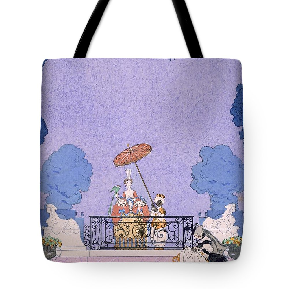 Male Tote Bag featuring the painting Illustration From A Book Of Fairy Tales by Georges Barbier