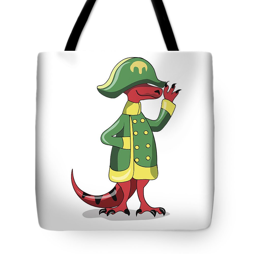 Standing Tote Bag featuring the digital art Illustration Of A Tyrannosaur Rex by Stocktrek Images