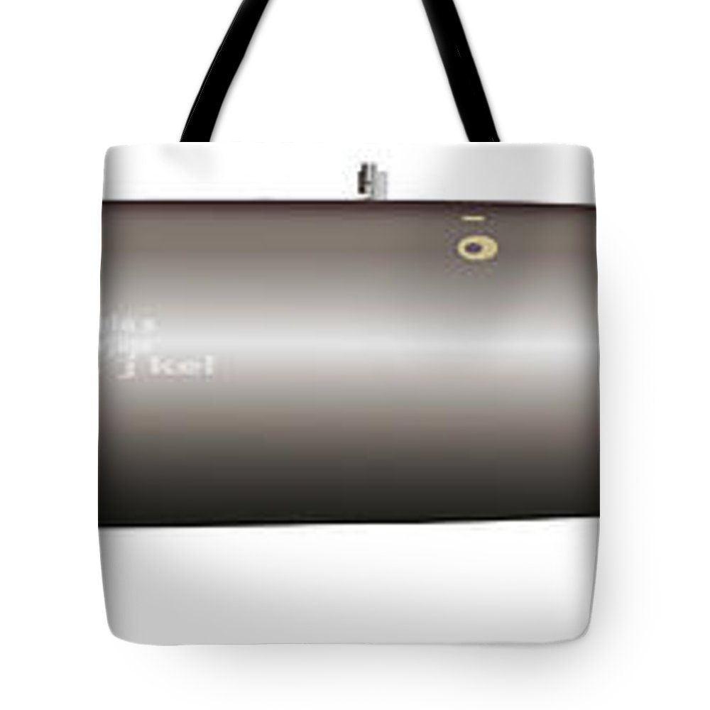 Military Tote Bag featuring the digital art Illustration Of An Mk-82 by Stocktrek Images