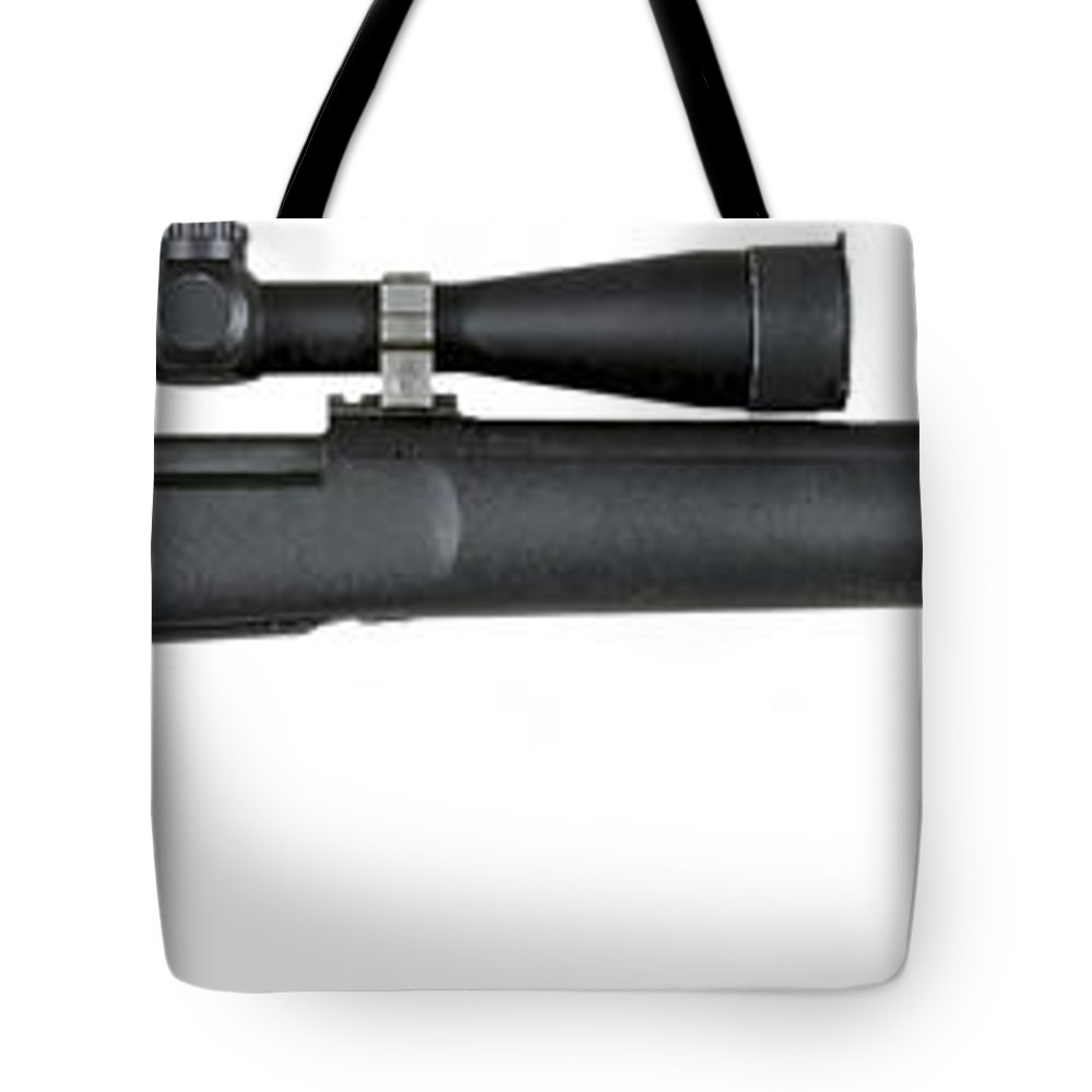 Military Tote Bag featuring the digital art Illustration Of The M24 Sniper Weapon by Stocktrek Images