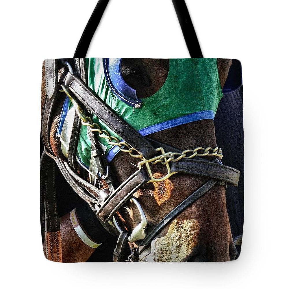 Steeplechase Tote Bag featuring the photograph I'm Ready by Robert L Jackson