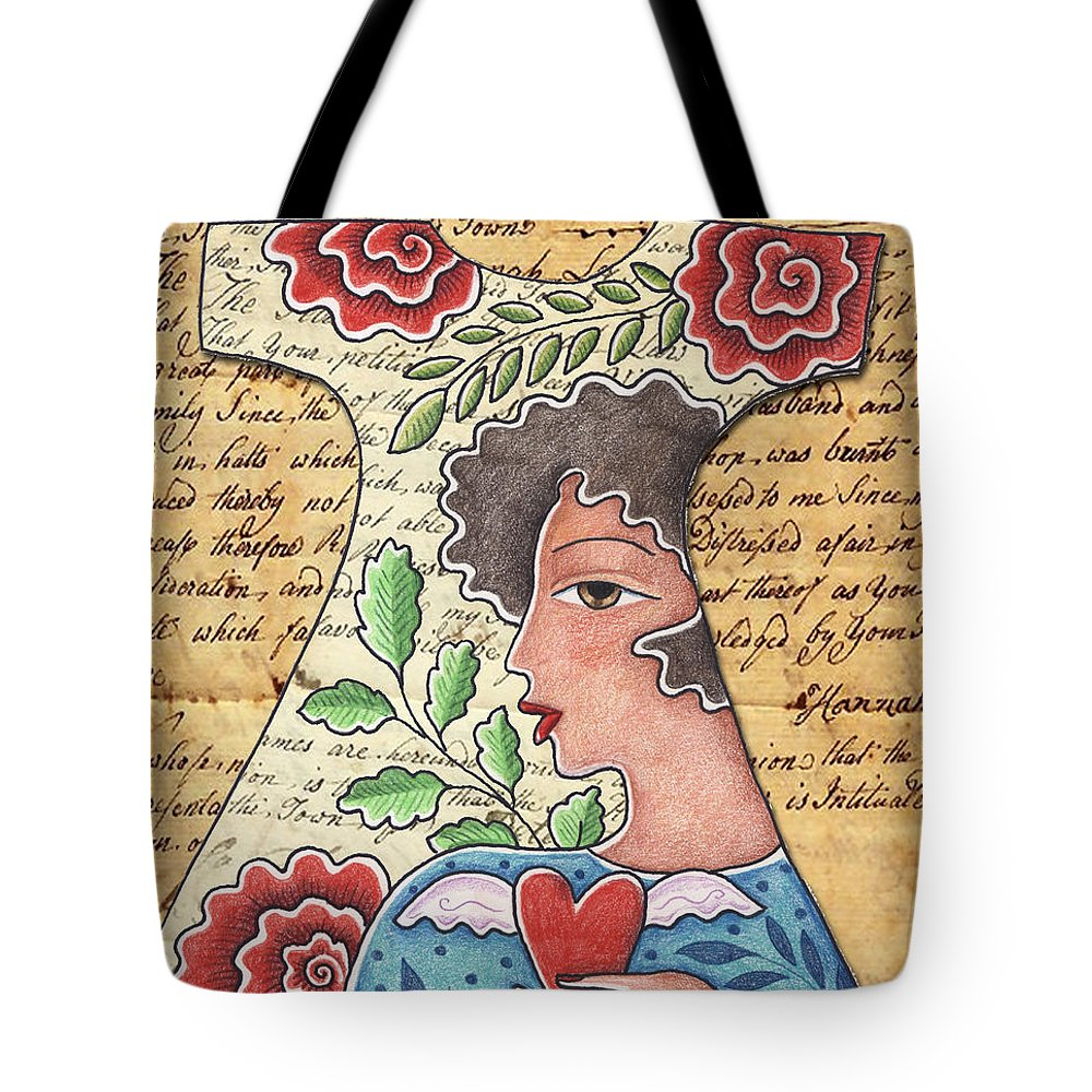 Red Flowers Tote Bag featuring the digital art I'm wearing my heart by Elaine Jackson