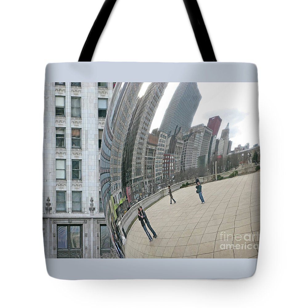 Chicago Tote Bag featuring the photograph Imaging Chicago by Ann Horn