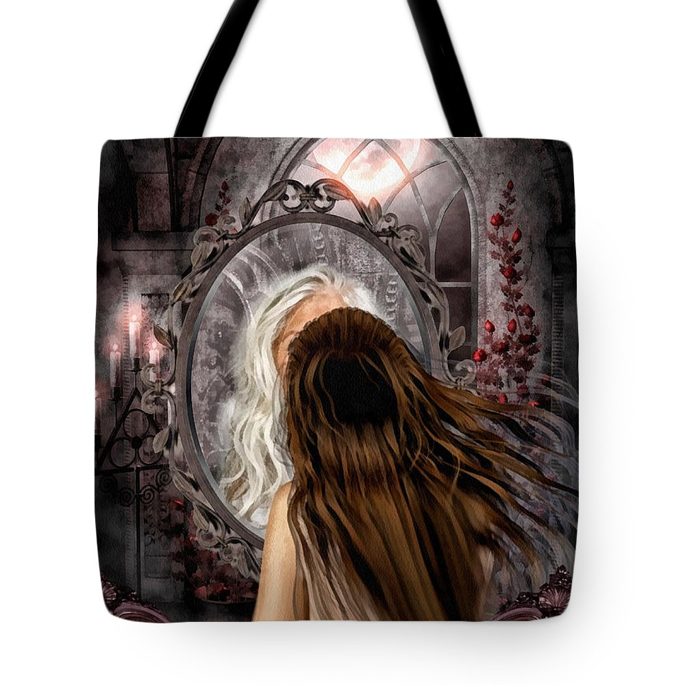 Immortality Tote Bag featuring the painting Immortality by Mo T