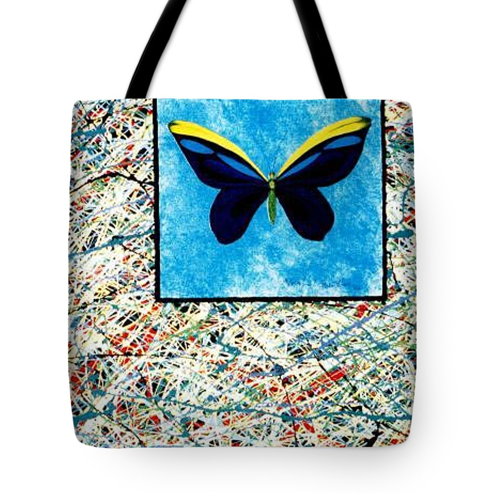 Abstract Tote Bag featuring the painting Imperfect II by Micah Guenther