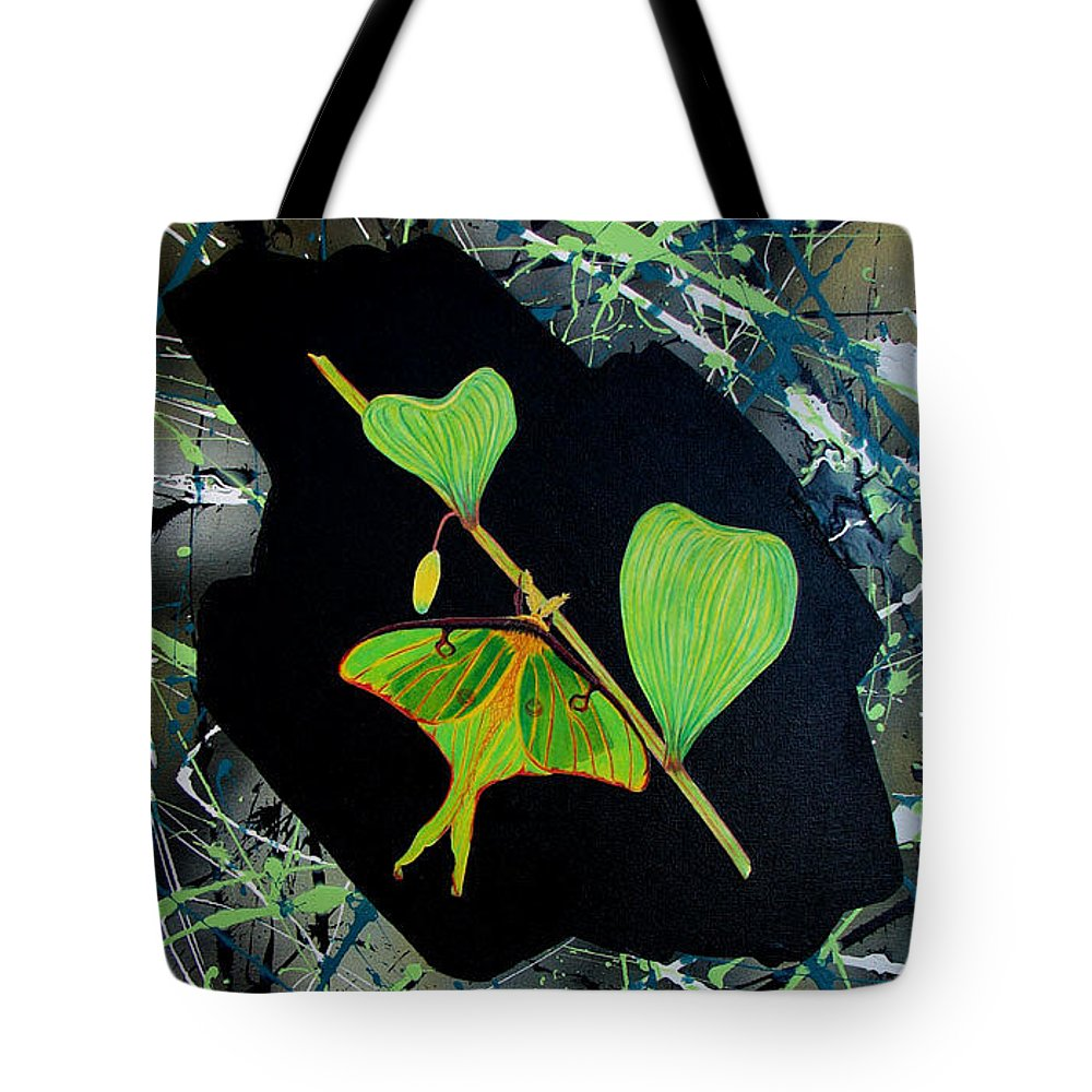 Abstract Tote Bag featuring the painting Imperfect IIi by Micah Guenther