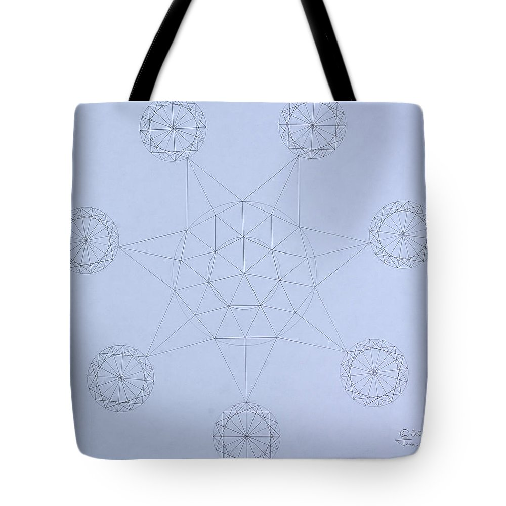 Jason Padgett Tote Bag featuring the drawing Impossible Parallels by Jason Padgett