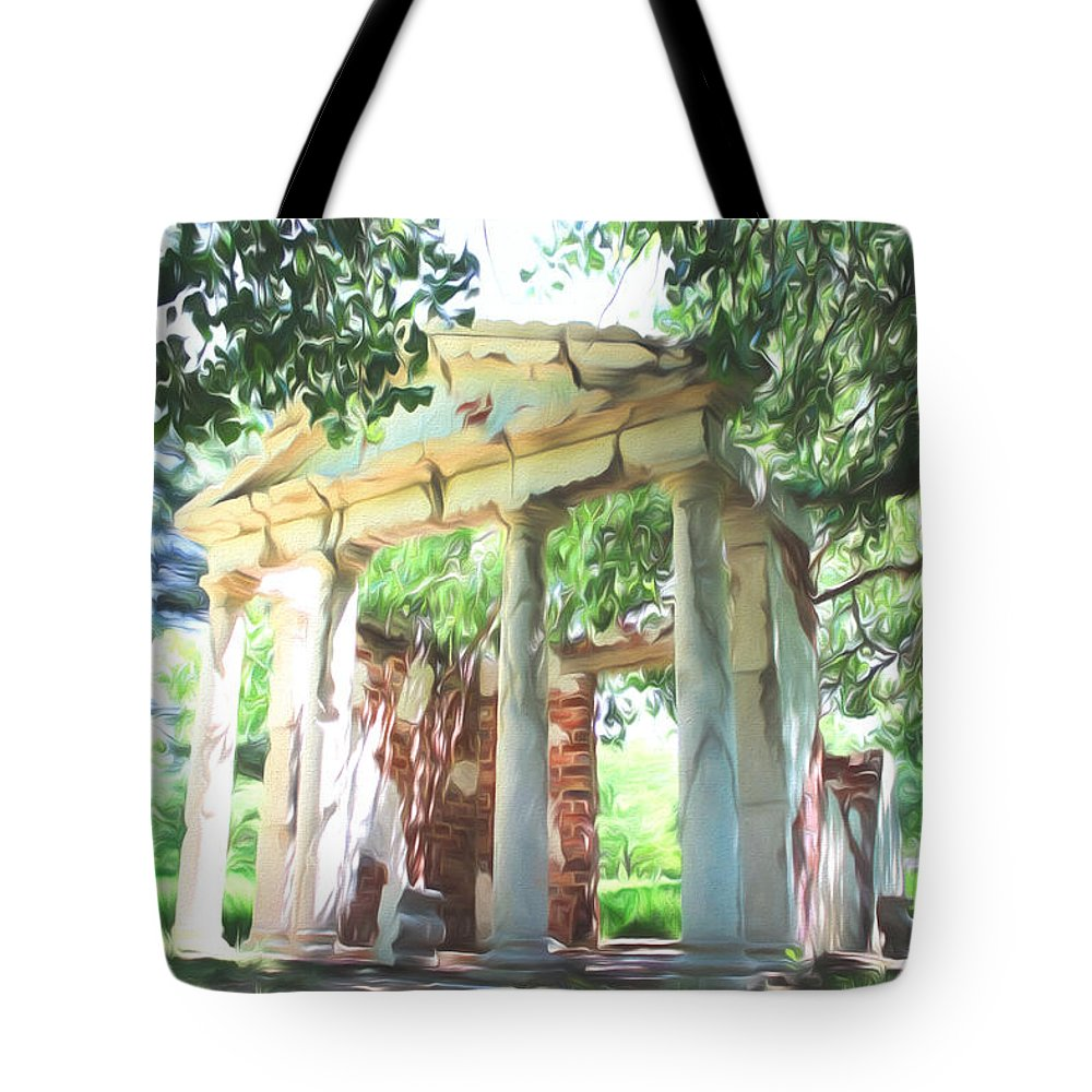 impression of ruins tote bag for sale by becca buecher. Black Bedroom Furniture Sets. Home Design Ideas