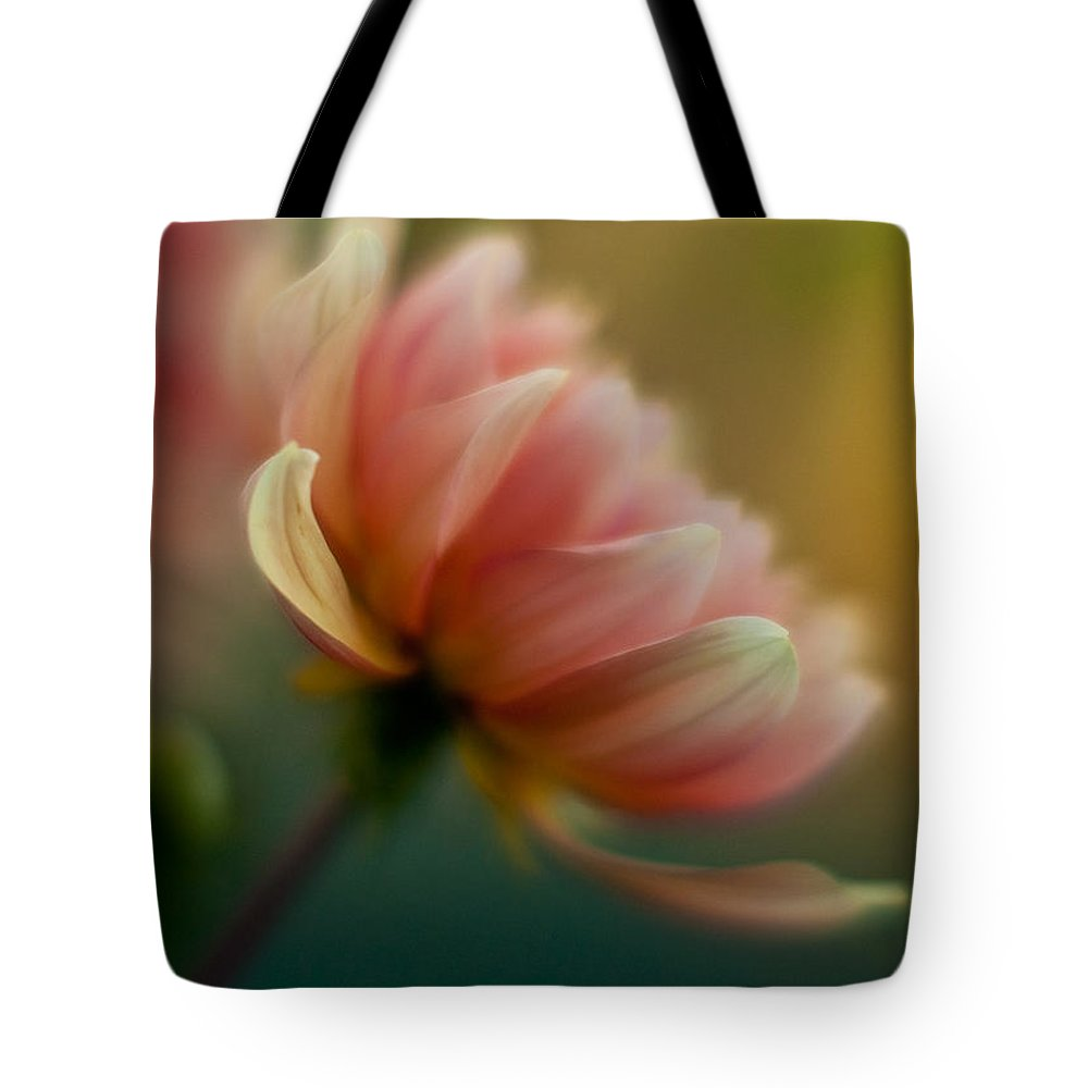 Dahlia Tote Bag featuring the photograph Impressionist Dahlia by Mike Reid