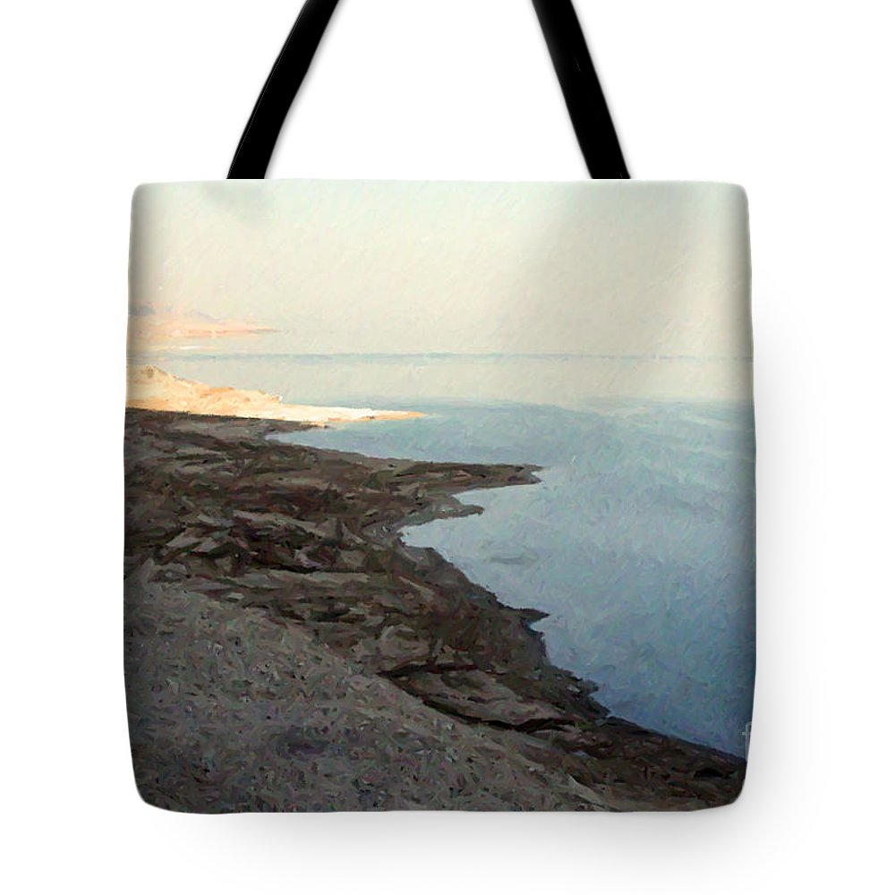 Jerusalem Tote Bag featuring the photograph Impressionist Of The Dead Sea by Doc Braham