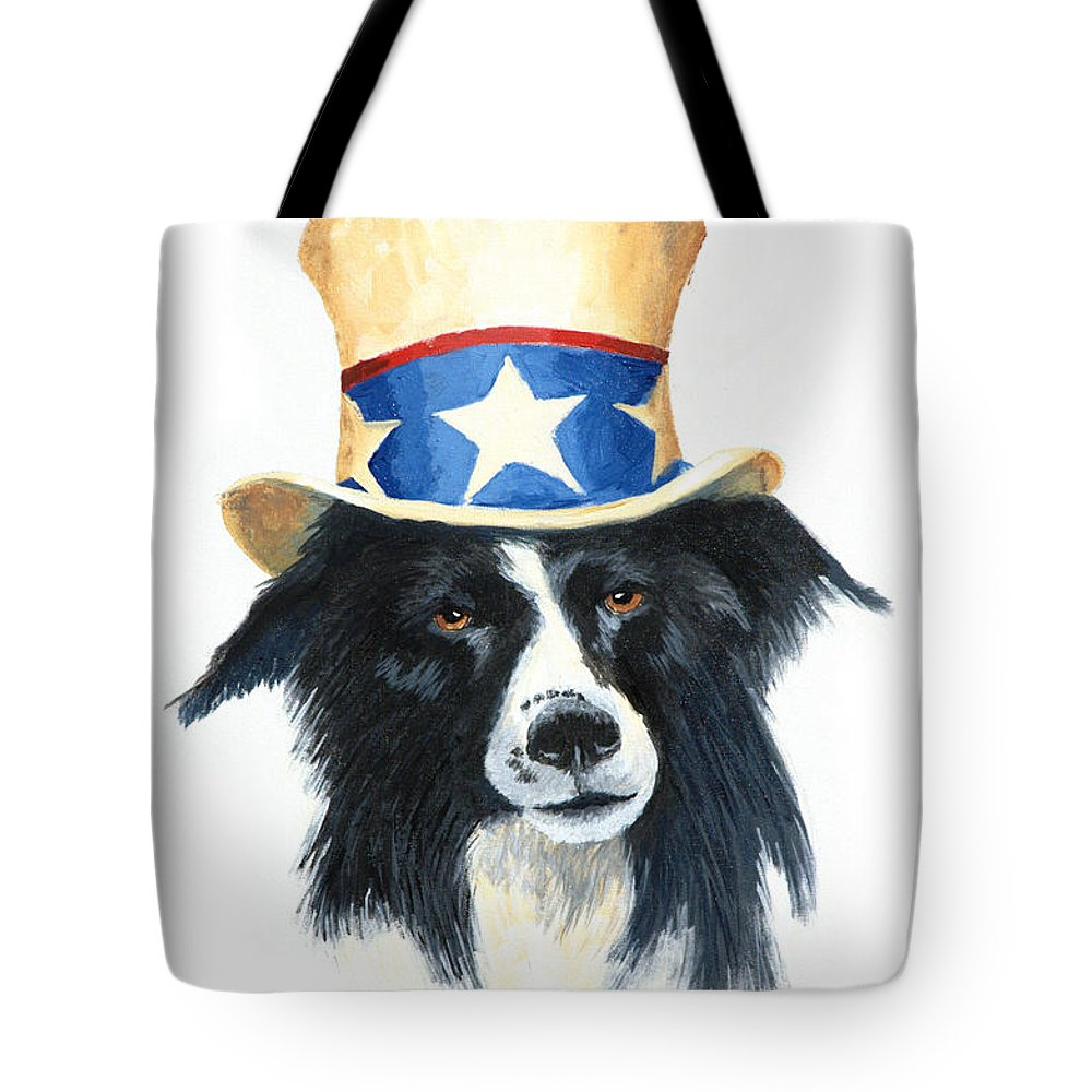 Dog Tote Bag featuring the painting In Dog We Trust by Jerry McElroy