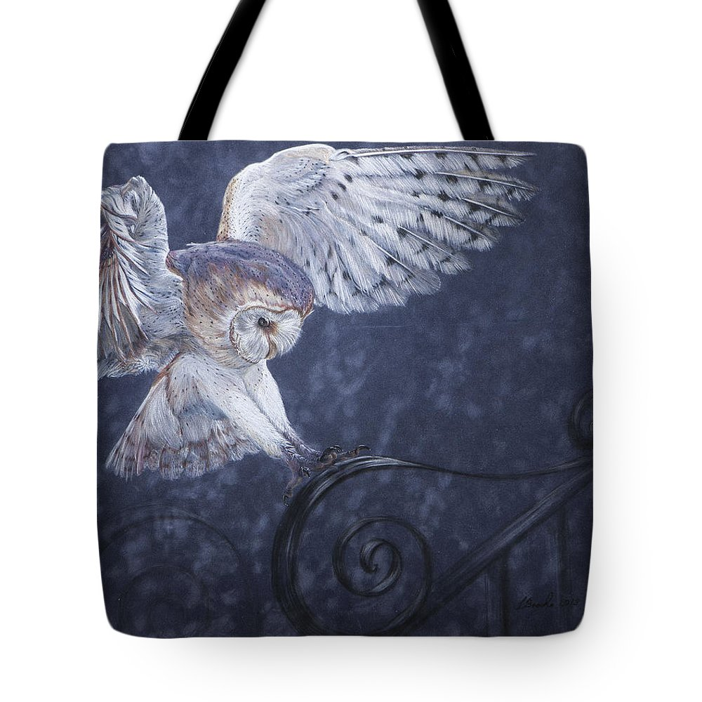 Wildlife Tote Bag featuring the painting In For The Landing by Sandy Brooks