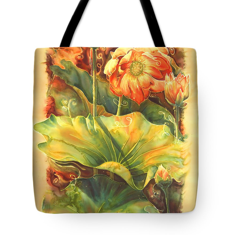 Flower Tote Bag featuring the painting In Full Bloom by Deborah Younglao