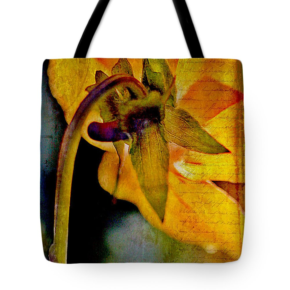 Pressed Tote Bag featuring the photograph In Grandmother's Memory Book by Judi Bagwell