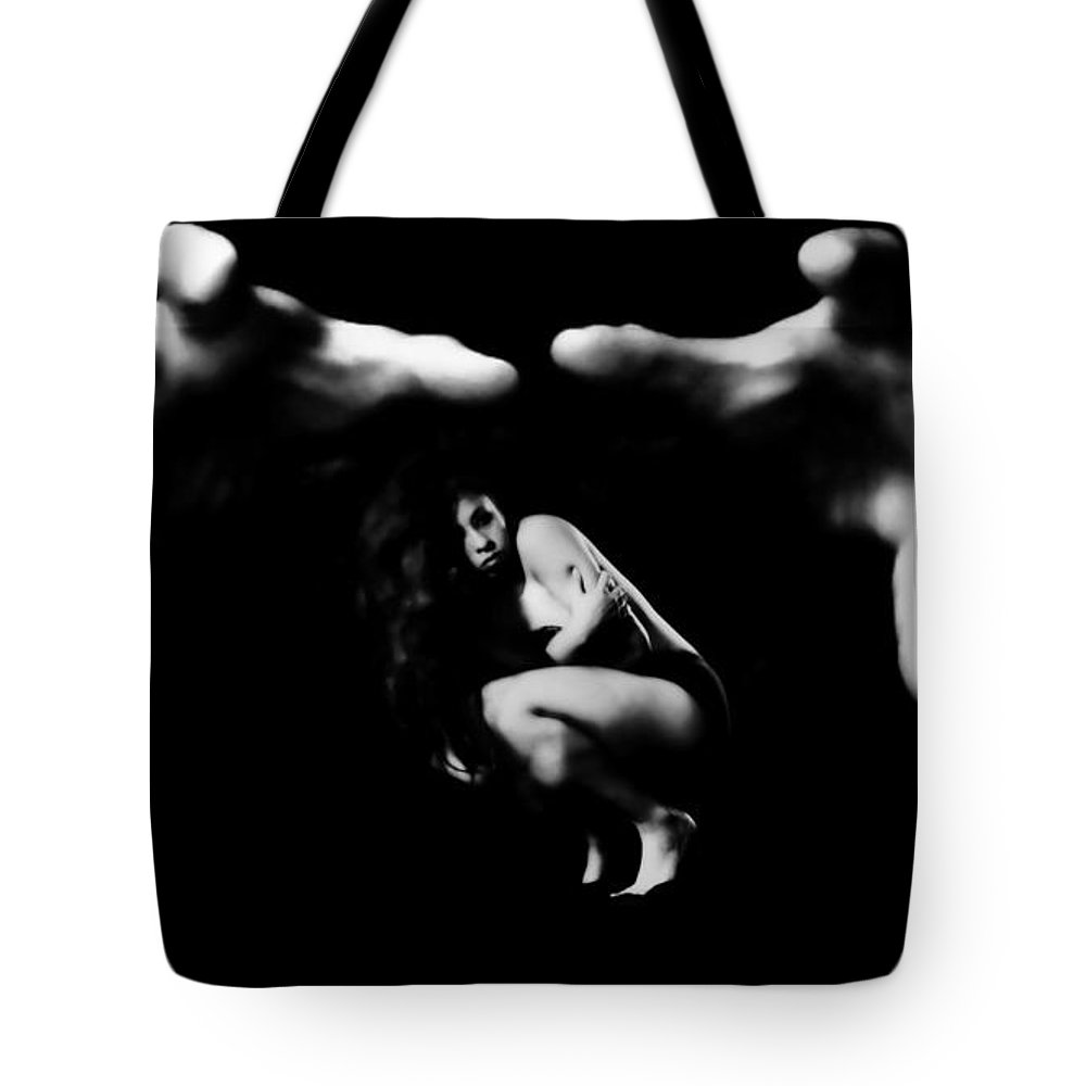 Tote Bag featuring the photograph In His Grasp by Jessica Shelton