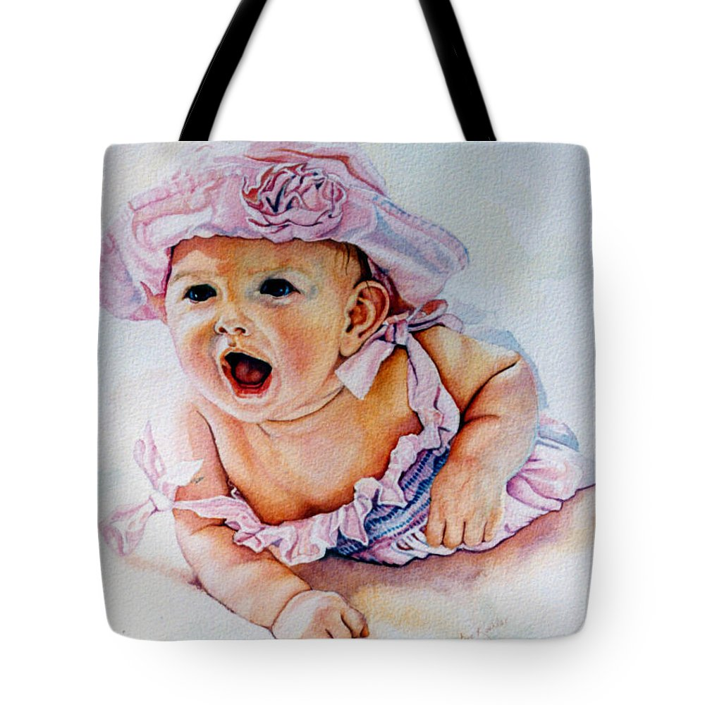Baby Tote Bag featuring the painting In My Opinion by Hanne Lore Koehler