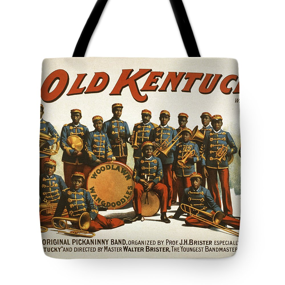 Entertainment Tote Bag featuring the drawing In Old Kentucky by Aged Pixel