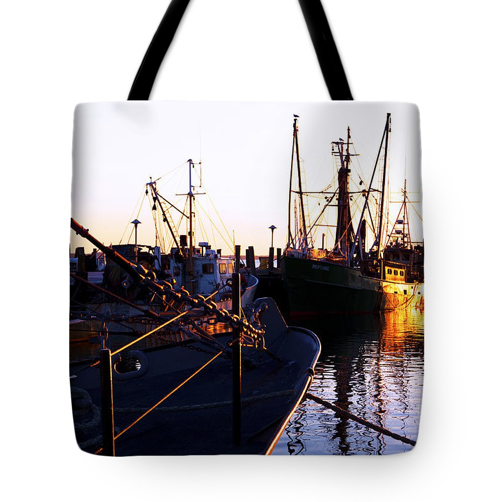 Commercial Tote Bag featuring the photograph In Port For The Night by Joe Geraci