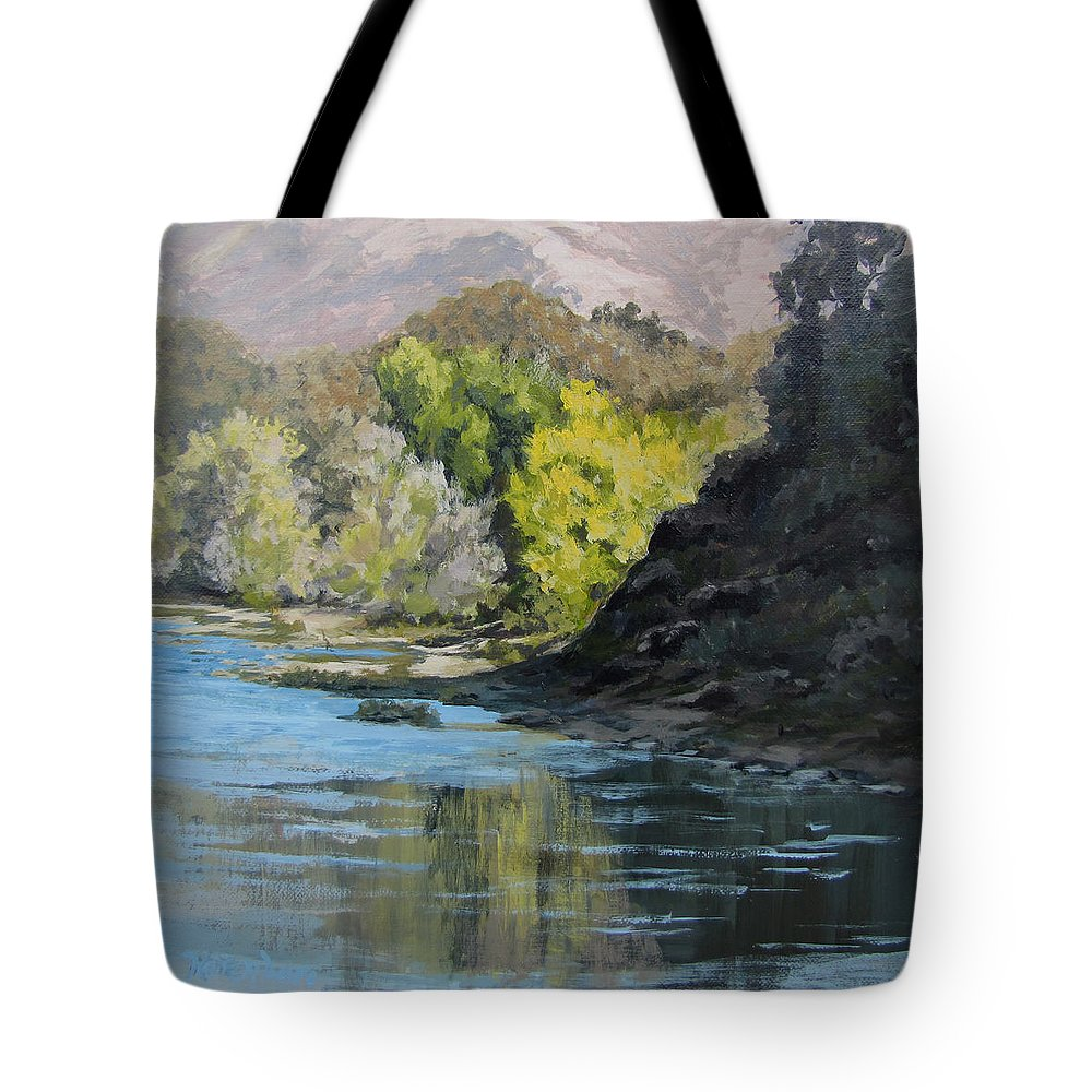 Landscape Tote Bag featuring the painting In Shadow by Karen Ilari