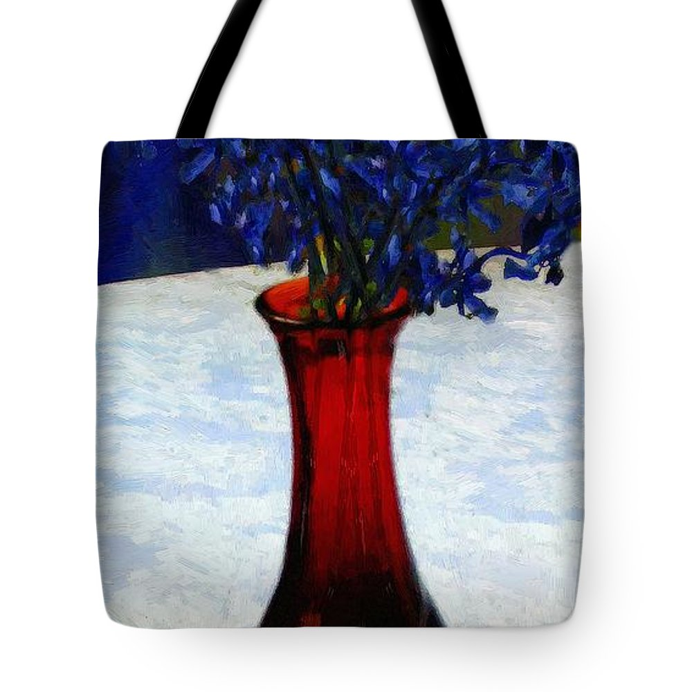 Still Life Tote Bag featuring the painting In The Blue Hour by RC DeWinter