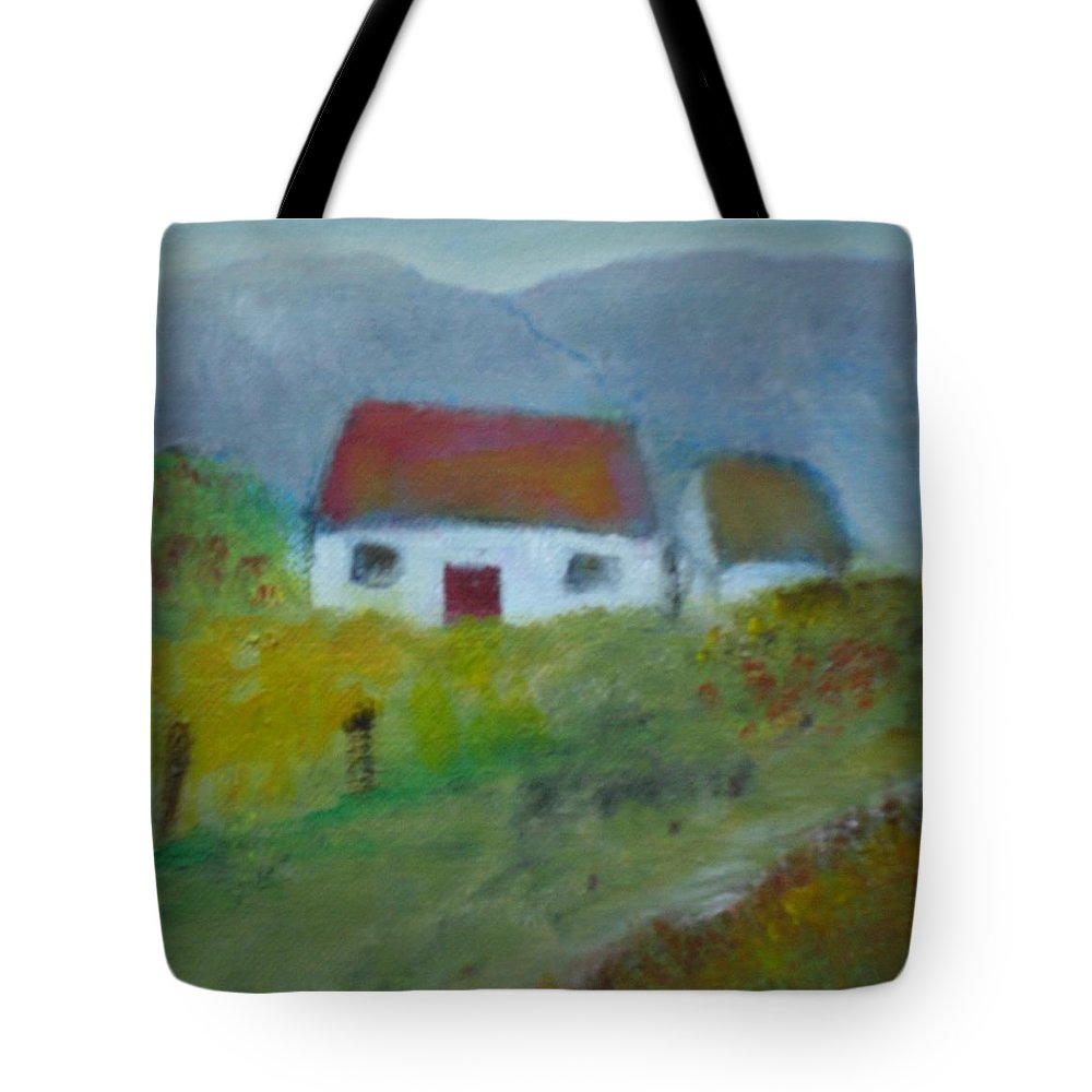Landscape Tote Bag featuring the painting In The Bluestack Mountains by Mary Feeney