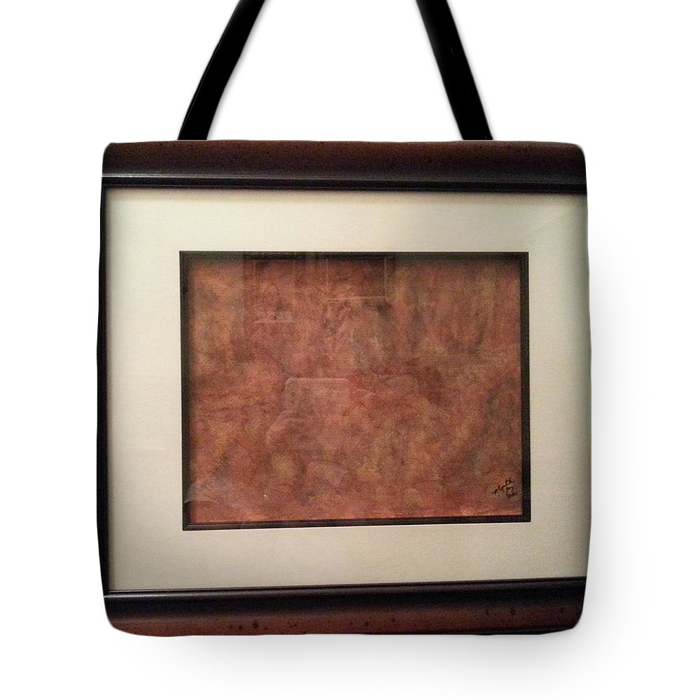 Rustic Colors Of Caverns And Stalactite's And Stalagmites' Like You Would See When Visiting Caverns And Caves. Tote Bag featuring the painting In The Caverns....you Will Find by Myrtle Joy