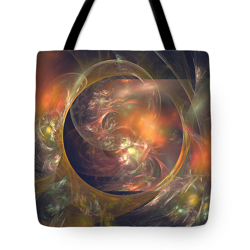Crystal Tote Bag featuring the digital art In The Crystal Ball by Robert Mawby
