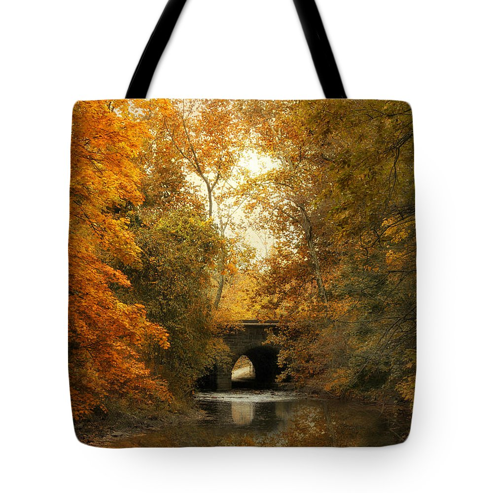 Autumn Tote Bag featuring the photograph In The Distance by Jessica Jenney